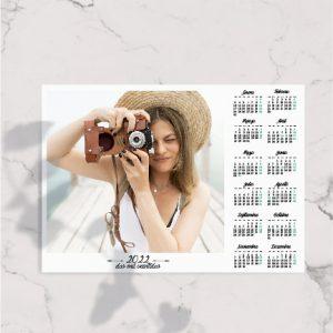 Calendario anual personalizado horizontal